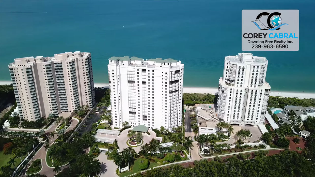 Naples Bay Colony Beachfront High Rise Condos Real Estate for Sale