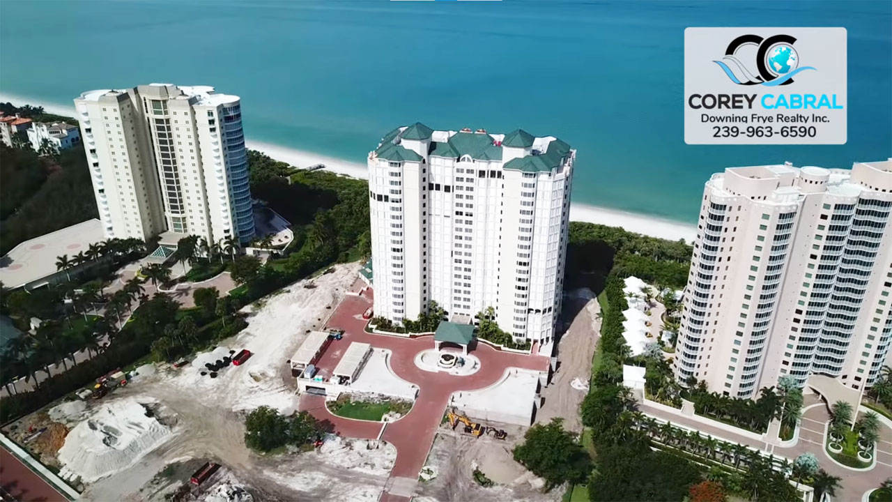 Carlysle at Bay Colony Beachfront High Rise Condo Real Estate for Sale in Naples
