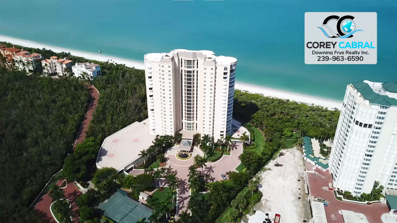 Contessa at Bay Colony Beachfront High Rise Condo Real Estate for Sale in Naples
