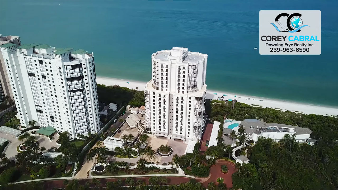 The Windsor at Bay Colony Beachfront High Rise Real Estate for Sale in Naples